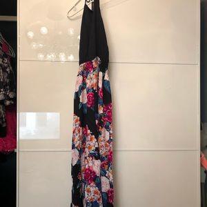 Minkpink black and floral jumpsuit  NEVER WORN